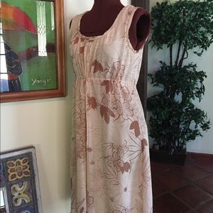Theory Silk Soft Pink Drawstring Midi Dress